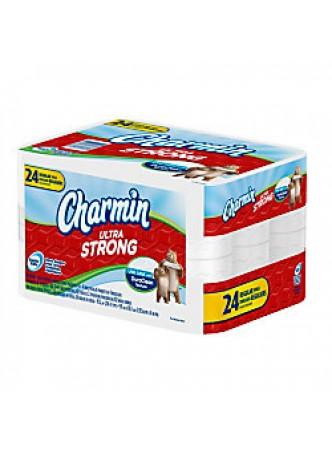 Charmin® Regular Ultra Strong 2-Ply Bathroom Tissue, 82 Sheets Per Roll, Case Of 24 Rolls