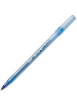 BIC GSM11-BE Round Stic Pen,  0.7mm, Medium point, Blue ink, Dozen
