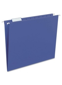 Smead 64057 64057 Navy Blue Colored Hanging Folders with Tabs, Letter size, 1/5 cut tab, assorted position, box of 25