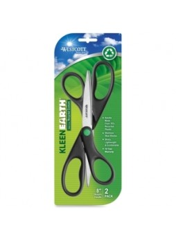Westcott 15179 KleenEarth All-purpose Scissors, 8""