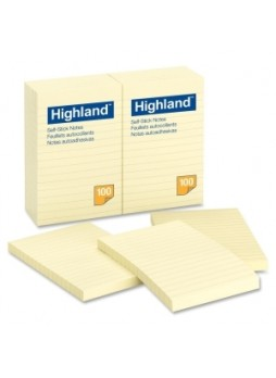 "Highland 6609-YW Note, 4"" x 6"", Yellow, Pack of 12"