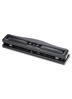 Business Source 65645 Heavy-duty 3 Hole Punch, 10 sheets capacity, Black, Each