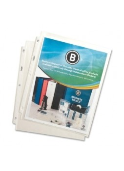 Business Source 74551 Top Loading Sheet Protector, 2.4 mil thickness, Letter size, Polypropylene, Clear, Box of 100