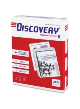 "Discovery, 12534 Multipurpose Paper, 8.5"" x 11"", Letter size,  White, 20lb, 92 brightness, Box of 10"