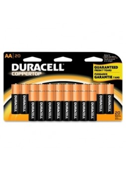 Duracell MN1500B20 CopperTop General Purpose Batteries, AA, 1.5 V, Pack of 20