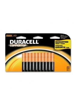 Duracell MN2400B20 CopperTop General Purpose Battery, AAA, Pack of 20