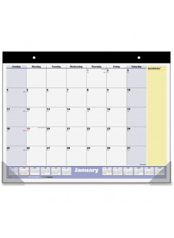 "Julian - Monthly - 1.1 Year - January 2016 till January 2017 - 1 Month Single Page Layout - 22"" x 17"" - Blue, Yellow - Vinyl - aagsk70000"