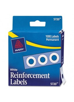 Reinforcement label, White - Polyvinyl - 1000/Pack - ave05720