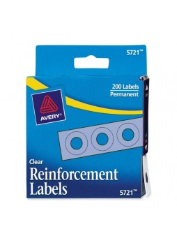 Reinforcement label, Clear - Polyvinyl - 200/Pack - ave05721