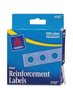 Reinforcement label, Clear - Polyvinyl - 1000/Pack - ave05722
