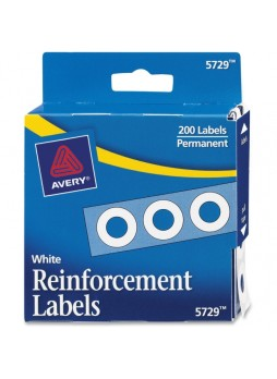 Reinforcement label, White - 200/Pack - ave05729