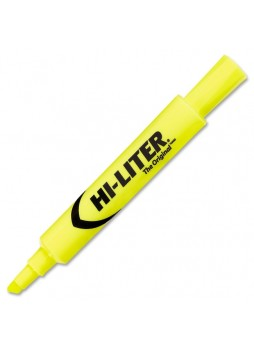 Chisel Marker Point Style- ave24000 - Fluorescent Yellow - Yellow - 12 / Dozen