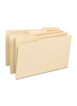 "Legal - 8.50"" Width x 14"" Sheet Size - 0.75"" Expansion - 1/3 Tab Cut - Assorted Position Tab Location - 14 pt. Folder Thickness - Manila - Recycled - 50 / Box - bsn16516"