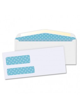 "Envelopes  Double Window - #9 (8.88"" x 3.88"") - 24 lb - 500/Box - White - bsn 36680"