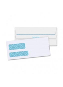 "Envelopes Double Window - #9 (8.88"" x 3.88"") - 24 lb - Self-sealing - 500/Box - White - bsn36681"