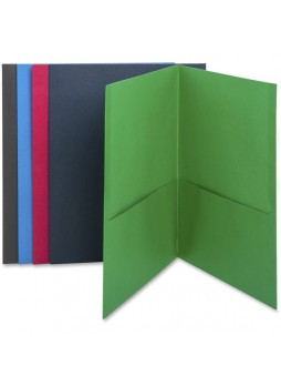 "Letter - 8.50"" Width x 11"" Sheet Size - 125 Sheet Capacity - 2Internal Pockets - Paper - Assorted - Recycled - 25 / Box - bsn78502"