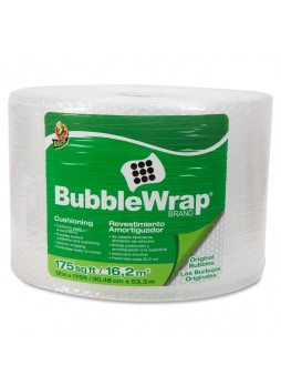 "Bubble wrap, 12"" Width x 175 ft Length - 187.5 mil Thickness - Reusable, Lightweight, Water Resistant, Perforated - Nylon - Clear - DUC001002902"