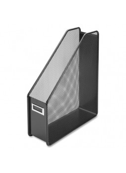 "Magazine holder, 12.3"" Height x 3.1"" Width x 10"" Depth - Desktop - Black - Steel - 1Each - llr84152"