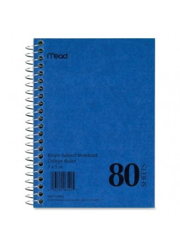 "Notebook, 80 Sheets 5"" x 7"" - 1 Each White Paper - mea06542"