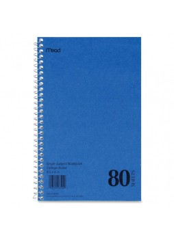 "Notebook, 80 Sheets 6"" x 9.50"" - 1 Each White Paper- mea06544"