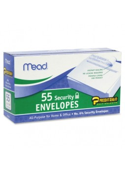 Envelope, Security - #6 3/4 - Peel & Seal - 55/Box - White - mea75030