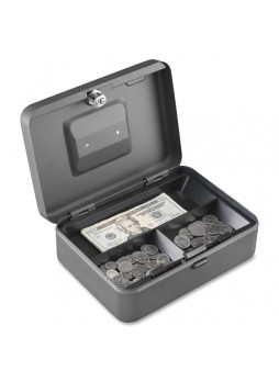 "Cash box, Key Lock Bolt(s) - 3.6"" x 9.9"" x 7.1"" - Gray - mmf2216197g2"