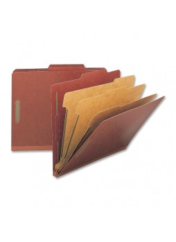 "Legal - 8.50"" Width x 14"" Sheet Size - 8 - 2"", 1"" Fastener Capacity for Folder, Divider - 3 Dividers - 25 pt. Folder Thickness - Pressboard - Red - Recycled - 10 / Box - nat01055"