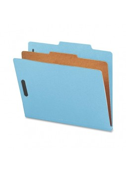 "Letter - 8.50"" Width x 11"" Sheet Size - 2"" Fastener Capacity for Folder - Top Tab Location - 1 Dividers - 25 pt. Folder Thickness - Blue - Recycled - 10 / Box - natsp17200"