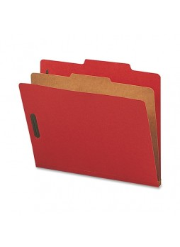 "Letter - 8.50"" Width x 11"" Sheet Size - 2"" Fastener Capacity for Folder - 1 Dividers - 25 pt. Folder Thickness - Bright Red - Recycled - 10 / Box - natsp17201"