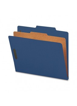 "Letter - 8.50"" Width x 11"" Sheet Size - 2"" Fastener Capacity for Folder - Top Tab Location - 1 Dividers - 25 pt. Folder Thickness - Blue - Recycled - 10 / Box - natsp17202"