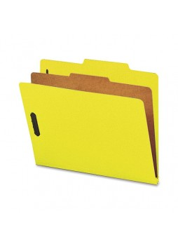 "Letter - 8.50"" Width x 11"" Sheet Size - 2"" Expansion - 2"" Fastener Capacity for Folder - Top Tab Location - 1 Dividers - 25 pt. Folder Thickness - Yellow - Recycled - 10 / Box - natsp17204"