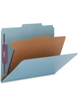 "Legal - 8.50"" Width x 14"" Sheet Size - 2"", 2"", 2"" Fastener Capacity for Folder - 2/5 Tab Cut - Right of Center Tab Location - 1 Dividers - 25 pt. Folder Thickness - Blue - Recycled - 10 / Box - natsp17219"