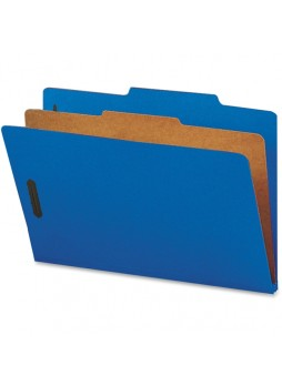"Legal - 8.50"" Width x 14"" Sheet Size - 2"", 2"", 2"" Fastener Capacity for Folder - 2/5 Tab Cut - Right of Center Tab Location - 1 Dividers - 25 pt. Folder Thickness - Dark Blue - Recycled - 10 / Box - natsp17221"
