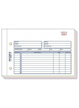 "Receipt book, 50 Sheet(s) - 3 PartYes - 5.50"" x 7.87"" Sheet Size - Assorted Sheet Color - Blue, Red Print Color - 1 / Each - red7l706"