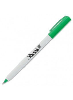 Ultra Fine Marker Point Type - Point Marker Point Style - Green Alcohol Based Ink - 1 Each - san37114