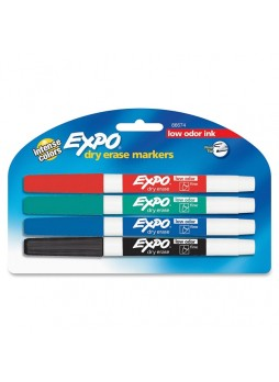 Expo 86674K Dry Erase Markers, Fine point, Set of 4