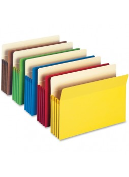 "Accordions, 9.50"" Width x 14.75"" Sheet Size - 800 Sheet Capacity - 3.50"" Expansion - 12.5 pt. Folder Thickness - Manila - Blue, Green, Red, Yellow, Redrope - Recycled - 5 / Pack - smd74892"