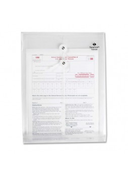 "Interoffice - 10"" x 13"" - String/Button - 1Each - Clear - spr02020"