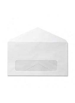 "Single Window - #6 3/4 (3.63"" x 6.50"") - 24 lb - Gummed - Wove - 500/Box - White - spr09062"