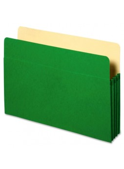 "Accordion, 9.50"" Width x 11.75"" Sheet Size - 3.50"" Expansion - Green - Recycled - 1 Each - spr26551"