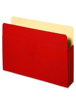 "Accordion, 9.50"" Width x 11.75"" Sheet Size - 3.50"" Expansion - Red - Recycled - 1 Each - spr26552"