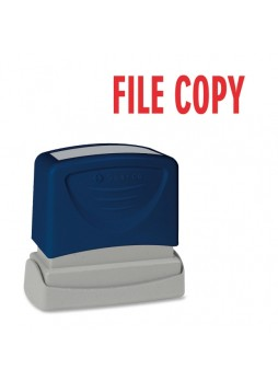 "Message Stamp - ""FILE COPY"" - 1.75"" Impression Width x 0.62"" Impression Length - Red - 1 Each - spr60018"