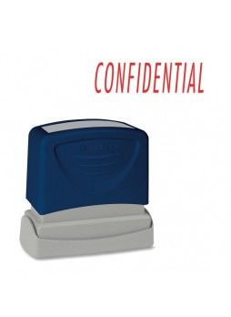 "Message Stamp - ""CONFIDENTIAL"" - 1.75"" Impression Width x 0.62"" Impression Length - Red - 1 Each - spr60021"