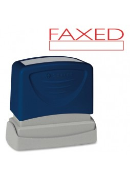 "Message Stamp - ""FAXED"" - 1.75"" Impression Width x 0.62"" Impression Length - Red - 1 Each - spr60025"