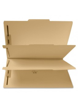 "Letter - 8.50"" Width x 11"" Sheet Size - 2"" Expansion - 2"", 2"" Fastener Capacity for Folder, Divider - 6 Dividers - 15 pt. Folder Thickness - Kraft - Manila - Recycled - spr95007"