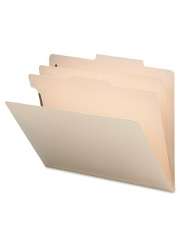 "Letter - 8.50"" Width x 11"" Sheet Size - 2"" Expansion - 2"", 2"" Fastener Capacity for Folder, Divider - 2 Dividers - Manila - Recycled - 10 / Box - sprsp17223"