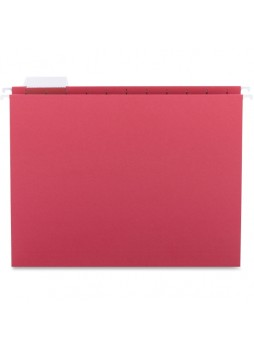 "Legal - 8.50"" Width x 14"" Sheet Size - 1/5 Tab Cut - Red - Recycled - 25 / Box - sprsp5315red"