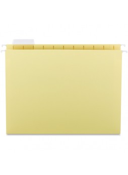 "Letter - 8.50"" Width x 11"" Sheet Size - 1/5 Tab Cut - Yellow - Recycled - 25 / Box - sprsp5215yel"