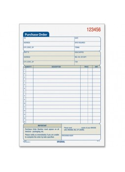 "Receipt book, 50 Sheet(s) - 3 PartYes - 7.93"" x 5.56"" Sheet Size - Assorted Sheet Color - 1 Each - top46141"