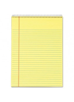 "Notepads, 70 Sheets - 16 lb Basis Weight - Letter 8.50"" x 11"" - 3 / Pack - Canary Paper - Notepad - top63623"